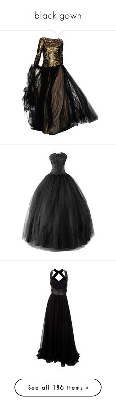 """black gown"" by rebellious-ingenue ❤ liked on Polyvore featuring dresses, gowns, 13. dresses., long dress, dolls, doll dress, babydoll dresses, long dresses, baby doll dress and long-sleeve babydoll dresses"