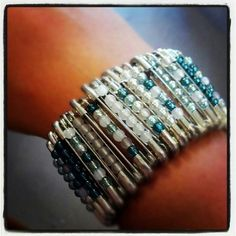 Upcycled jewelry from Bottle Tree Creative Arts House. Safety pins make gorgeous bracelets!