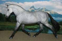 "9"" Breyer Custom Tregoyd Journeyman Dapple Grey Horse - Black Friday Week"