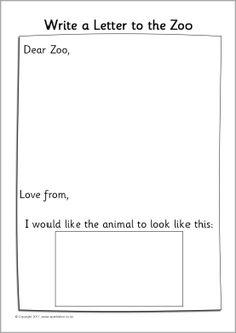 Dear Zoo writing frames (SB4175) - SparkleBox