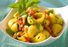 Pâtes aux poivrons et basilicDécouvrez la recette des pâtes aux poivrons et basilic