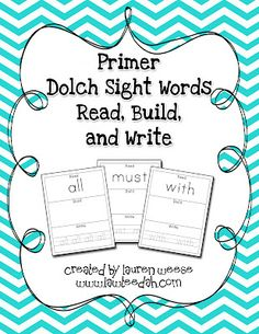 Sight words: read, build, write paper & manipulatively; then write them on big mail/packing air pillows - child reads then pops!