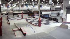 Vans skatepark in orange, CA Skateboard Ramps, Skate Park, Bmx, Building Design, Layout, Indoor, Cool Stuff, Interior, House