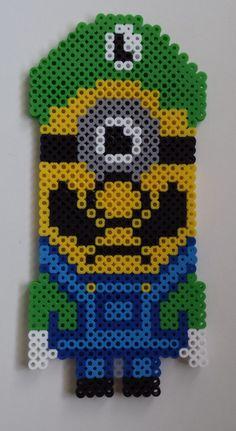 Perler Minion as Luigi I designed.
