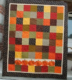 The Pumpkin Patch Quilt Kit.  Pieced and Quilted by Leisha Farnsworth.  Pattern designed by Kimberbell