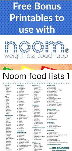 noom diet plan menu