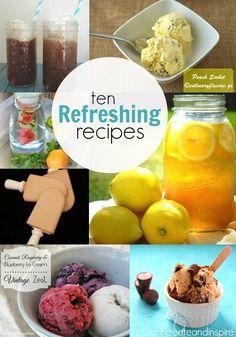 10 Refreshing Recipes >> #CreateandInspire Features