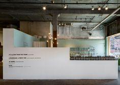 Aesop New York pop up shop installation by Frida Escobedo Visual Merchandising, Aesop Store, In Praise Of Shadows, Shed Sizes, Warehouse Design, Multipurpose Room, Design Blog, Store Design, Design Ideas