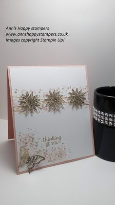 Spring & Summer Sunday #2 Heat embossed card using Grateful Bunch/Timele...