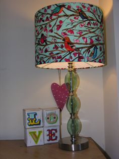 Bright  Birds Lampshade / Light Fitting by GenieLampShades on Etsy, £44.95