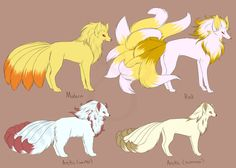 cheeziesart: I decided to revamp the designs for my vulpix variations I made a year and a half ago. I've mainly fleshed them out to be used in a story among some of my ask blogs. More or less, Reds are based off of Kyubey and Arctics based off of Inari's foxes. For the colors I've drawn inspiration from the RBY sprite colors for the Red variant and I started to draw inspiration from the gods in Okami for the Arctic variant. I was given suggestions that the colors clashed a bit too much so…