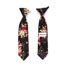 Handmade Peach Floral Skinny Boys Tie Childrens Wedding Tie Kids Prom Tie