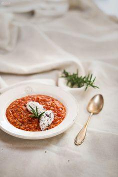 Rezept für Tomatensuppe mit Reis, mediterrane Tomatensuppe, tomatoe soup, mediterranean soup, tomatoe rice bowl