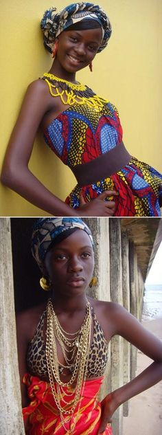 African print. She's beautiful! [more at pinterest.com/eventsbygab]