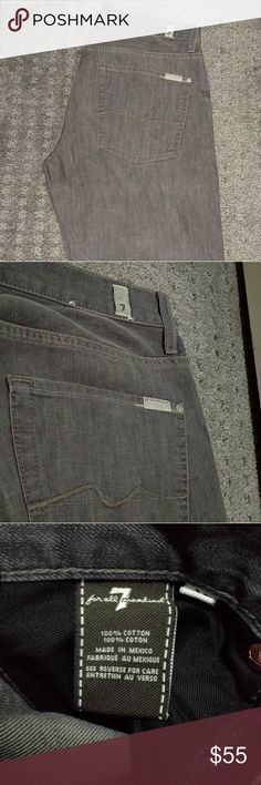 7 for All Mankind Gray Men's Jeans 100% Authentic. Bought it from their own retail store. 31 waist x 29 inseam. Worn once and has been in the closet. Smoke free, pet free home. Like new. 7 For All Mankind Jeans Straight