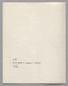 (English) There Will Never Be Silence: Scoring John Cage's 4'33″ - The Museum of Modern Art