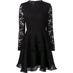 Cushnie Et Ochs Lace Peplum Dress (65,305 THB) found on Polyvore