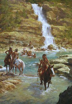 """Vanishing Pony Tracks"" by Howard Terpning artist painting Native American Native American Ancestry, Native American Warrior, Native American Paintings, Native American Wisdom, Native American Pictures, Native American History, Indian Paintings, American Indians, American Symbols"