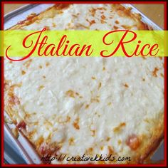 Easy to make yet delicious Italian Rice