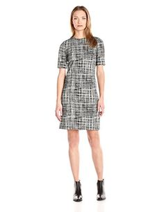 Theory Womens Rijik B Configure Printed Dress BlackEggshell 6 -- Be sure to check out this awesome product.