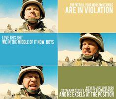 Generation Kill You has 'til o'dark hundred to unfuck y'self. Sgt Major John Sixta.
