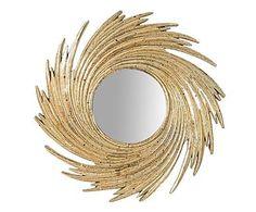 Specchio da parete in resina Spiral oro, d 24 cm
