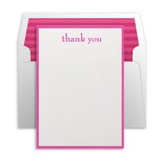 Pretty thank you note stationary