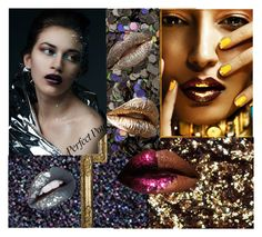 """""""Glitter Lips"""" by rosa-shawls ❤ liked on Polyvore featuring beauty, Burberry and glitterlips"""