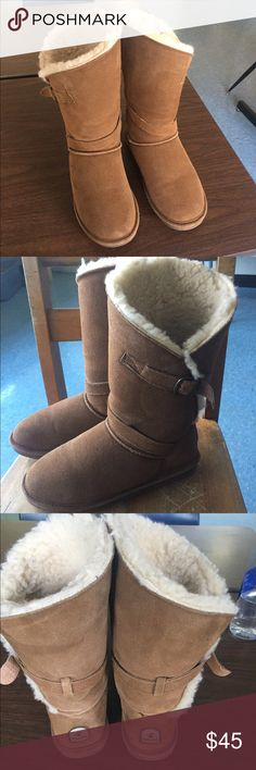 Bearpaw Annie Brown Boots Size 9. Worn once and in perfect condition. BearPaw Shoes Winter & Rain Boots