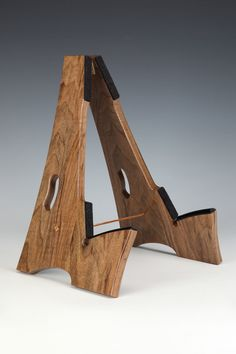 Slay-Frame wooden guitar stand in English Walnut wood