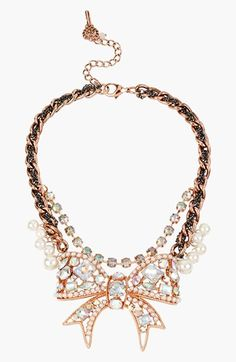 Betsey Johnson 'Critter Boost' Frontal Necklace
