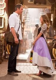"""John Corbett (as Aidan Shaw) and Sarah Jessica Parker (as Carrie Bradshaw) in """"Sex and the City Carrie Bradshaw Estilo, Carrie Bradshaw Outfits, Sarah Jessica Parker, Cynthia Nixon, I Love Cinema, Moda Chic, Elements Of Style, Lookbook, City Style"""