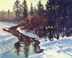 Painting From Life: A Split-Complementary Tetrad Palette. Split Complementary, Winter Painting, Winter Landscape, Landscape Paintings, Palette, Camping, Oil, Photos, Travel