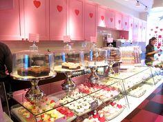 Hummingbird Bakery, Wardour Street (Soho) and St. John Street (Islington). The best cakes!!! Red velvet, chocolate, cheescake, cupcakes. Take your pick.