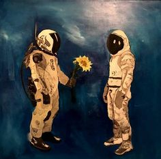 A 24 inch by 24 inch original oil painting Matt Holt Voltron, Aesthetic Space, 90s Aesthetic, Astronaut Wallpaper, Gothic Fantasy Art, Sunflower Art, Space And Astronomy, Art Sketchbook, Easy Drawings