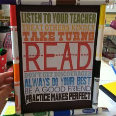 Hate throwing away dried out markers? Use them as a frame for a cute quote in the classroom! -Ms. Dente = D