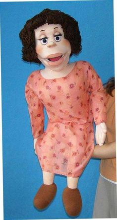 Ventriloquist puppets dolls. A professional ventriloquist's foam puppet.