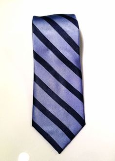 "Tommy Hilfiger NEW Men's Blue Slide Stripe 100% Silk 31/4"" Neck Tie Neckwear #TommyHilfiger #NeckTie #MensFashion #Silk #Neckwear"