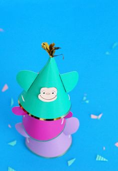 All 9 seasons of our favorite show, Curious George, are now only on Hulu. That's reason enough to adorn monkey hats and throw a party! Get the easy party hat DIY!