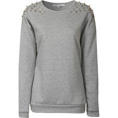 Studded Grey Sweater