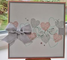 Stampin' Up UK Demonstrator Sarah-Jane Rae Cards and a Cuppa blog: Hearts a Flutter Card #2 for SU! Convention '13 in...