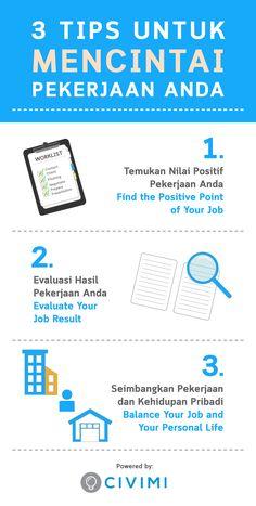 Tips to Love Your Job (Tips Untuk Mencintai Pekerjaan Anda) (Infographic)