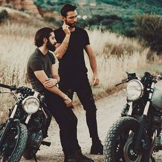Bearded men and their toys. Tag a bearded brother who you'd go ride with. - Models: @giulioaprin & @mat_giova - Photo by: @danielegatti_photography Have a Better Beard HUSKYBEARD [LINK IN BIO] View Store: http://ift.tt/2hyl5UC