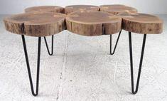diy bútorok Natural Wood Furniture, Rustic Furniture, Diy Furniture, Tree Stump Coffee Table, Unique Trees, Decorating Coffee Tables, Wood Design, Diy Home Decor, Table Decorations