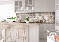 carrelage stickers Ideas Bathroom Tile Sticker Set of 24 Tiles decal mixed Tiles for walls Kitchen decals carrelage stickers Bathroom Tile Stickers, Kitchen Decals, Tile Decals, Vinyl Tiles, Kitchen Backsplash, Wall Tiles, Tiles For Walls, Wall Stickers, Küchen Design