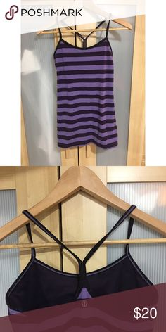 Lululemon Power Y Tank Lululemon Power Y tank in purple. Excellent used condition with no visible signs of wear. lululemon athletica Tops
