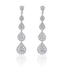 Diamond Drop Earrings, Diamond Teardrop Earrings, Ladies/Women's ...