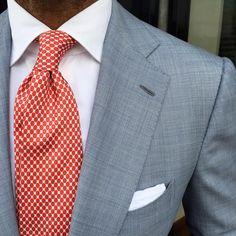 Viola Milano luxury silk tie & handrolled Cotton/Linen pocket square… www.violamilano.com