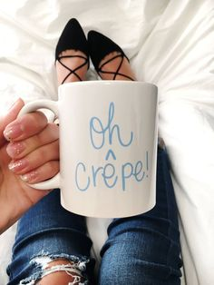 I love crepes - I love coffee mugs - marriage made in heaven!