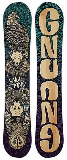 Gnu Ladies Choice Snowboard - Women's Twin Freestyle Snowboard - Jamie Anderson Pro Model - Winter 2016 - Christy Sports